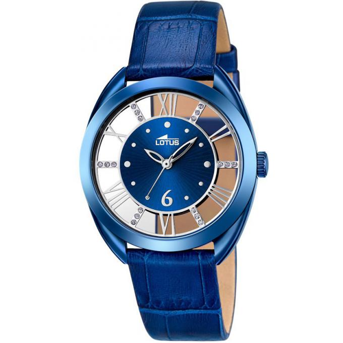 montre lotus l18253 2 montre bleue cuir femme sur. Black Bedroom Furniture Sets. Home Design Ideas