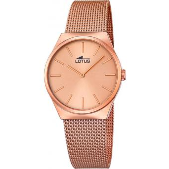Montre LOTUS l18289-2 - Montre Maille Or Rose Femme