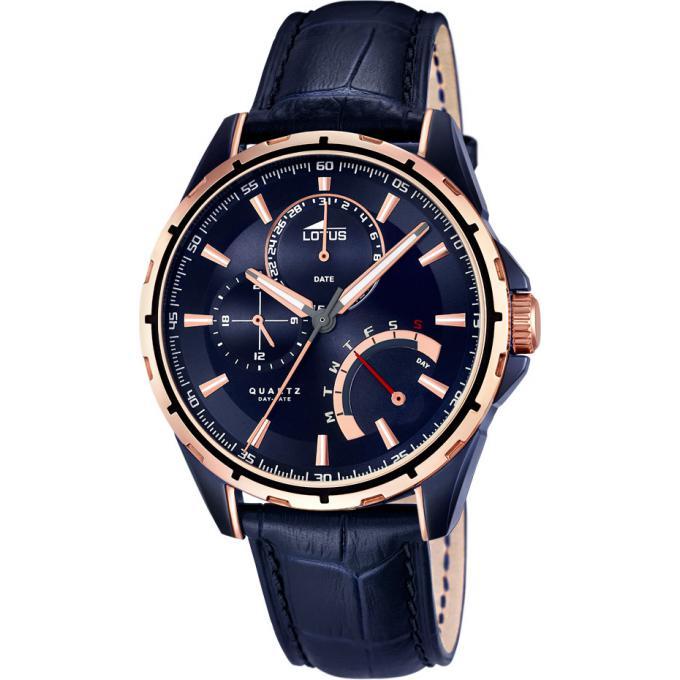 montre lotus l18210 1 montre bleue cuir homme sur bijourama montre homme pas cher en ligne. Black Bedroom Furniture Sets. Home Design Ideas