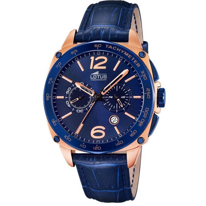 montre lotus l18217 1 montre bleue chronographe homme. Black Bedroom Furniture Sets. Home Design Ideas