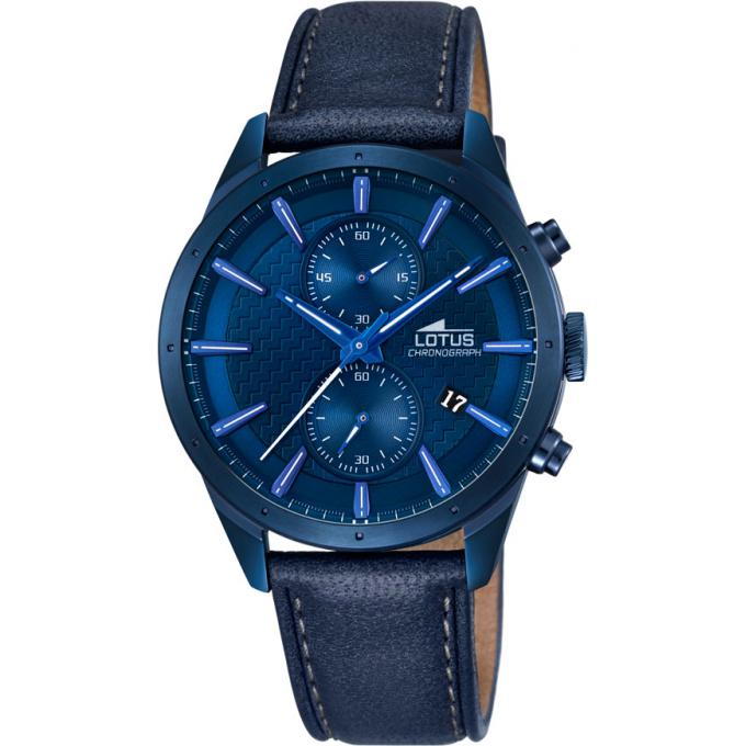 montre lotus l18315 1 montre bleue chronographe homme. Black Bedroom Furniture Sets. Home Design Ideas