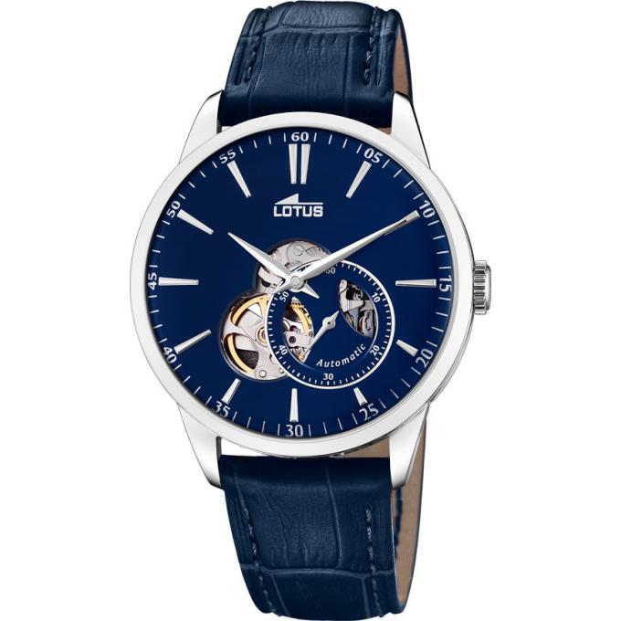montre lotus automatique l18536 3 montre analogique cuir bleu homme sur bijourama montre. Black Bedroom Furniture Sets. Home Design Ideas