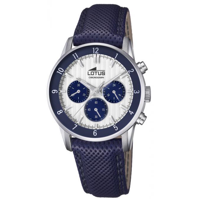 Montre Lotus Bleu : montre lotus chrono 18578 2 chronographe cuir bleu bo tier acier homme sur bijourama montre ~ Nature-et-papiers.com Idées de Décoration