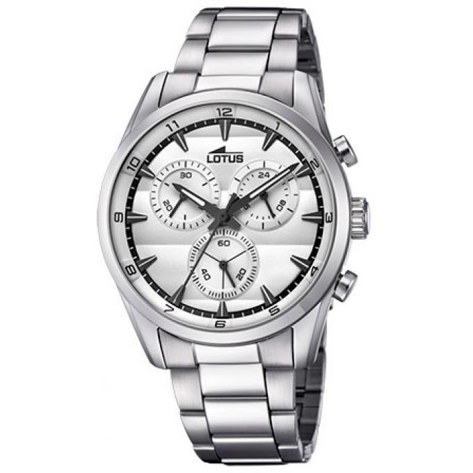 montre lotus chrono l18365 1 montre chronographe cadran blanche homme sur bijourama montre. Black Bedroom Furniture Sets. Home Design Ideas