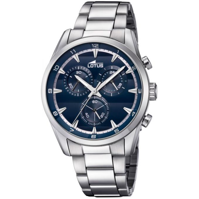 montre lotus chrono l18365 2 montre chronographe cadran bleue homme sur bijourama montre. Black Bedroom Furniture Sets. Home Design Ideas