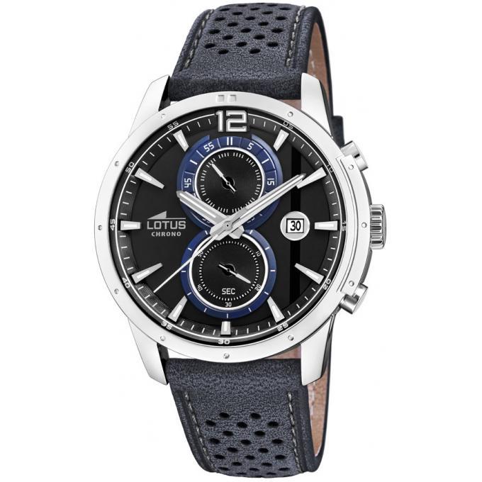 montre lotus chrono l18366 2 montre chronographe cuir grise homme sur bijourama montre homme. Black Bedroom Furniture Sets. Home Design Ideas