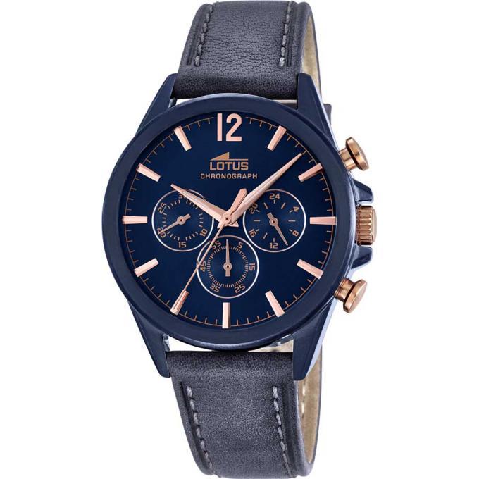 montre lotus l18201 1 montre cuir bleue homme sur bijourama montre homme pas cher en ligne. Black Bedroom Furniture Sets. Home Design Ideas