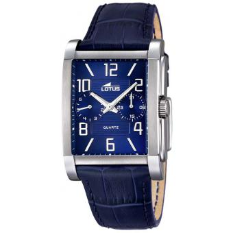 Montre Lotus L18221-2 - Montre Rectangulaire Bleue Homme