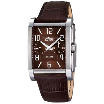 Montre Lotus L18221-3 - Montre Rectangulaire Marron Homme