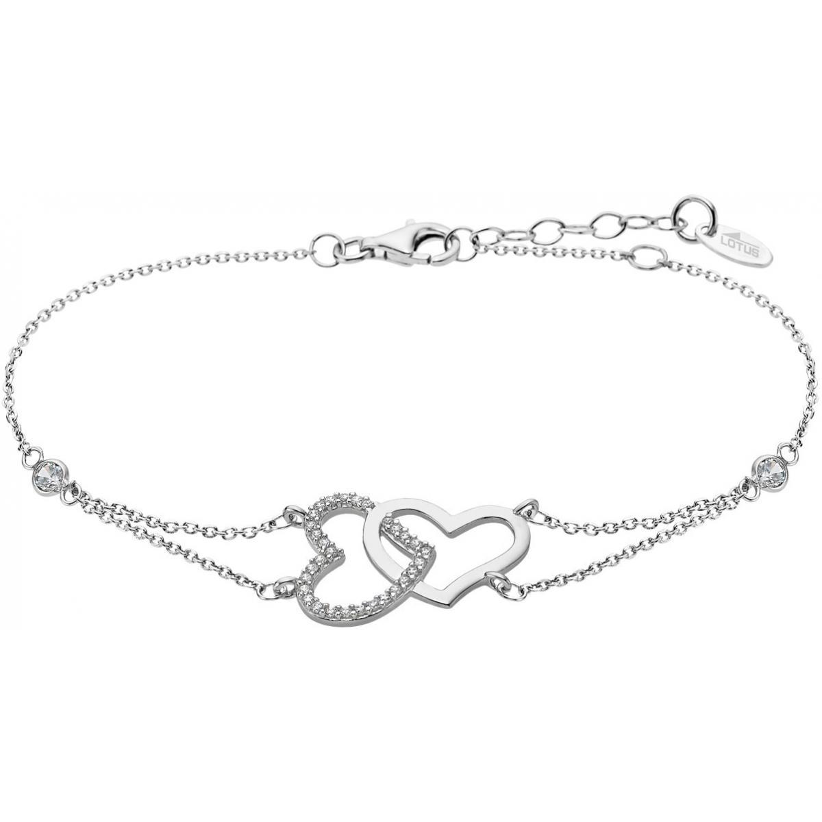 bracelet argent coeur femme