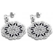 Boucles d'oreilles Lotus Style Bijoux Noir Rosace LS1720-4-2 - Lotus Style