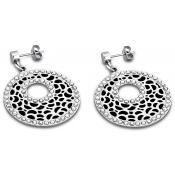 Boucles d'oreilles Lotus Style Bijoux Noir Cercle LS1721-4-2 - Lotus Style