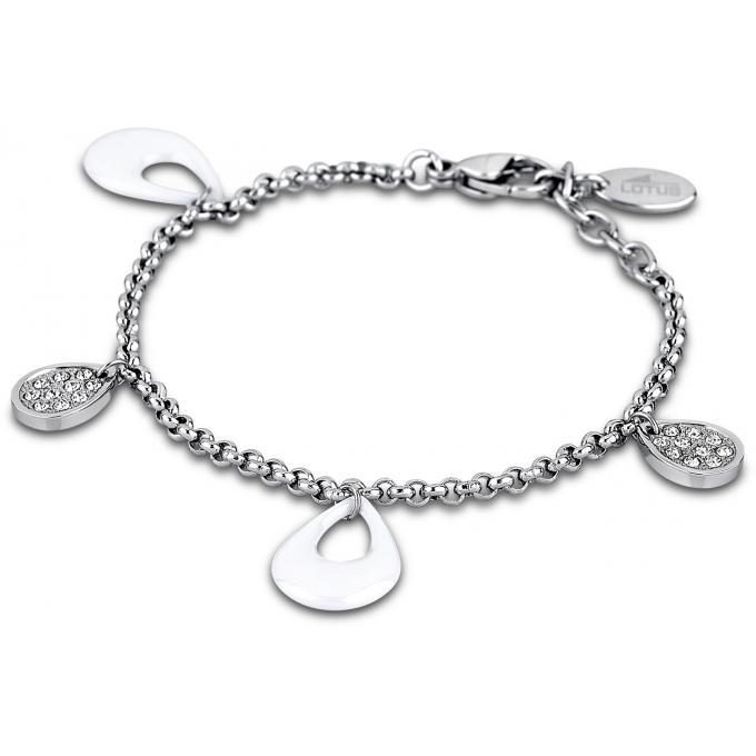 Bracelet Lotus Style CERAMIC LS1706,2,1 , Bracelet Blanc Céramique Femme