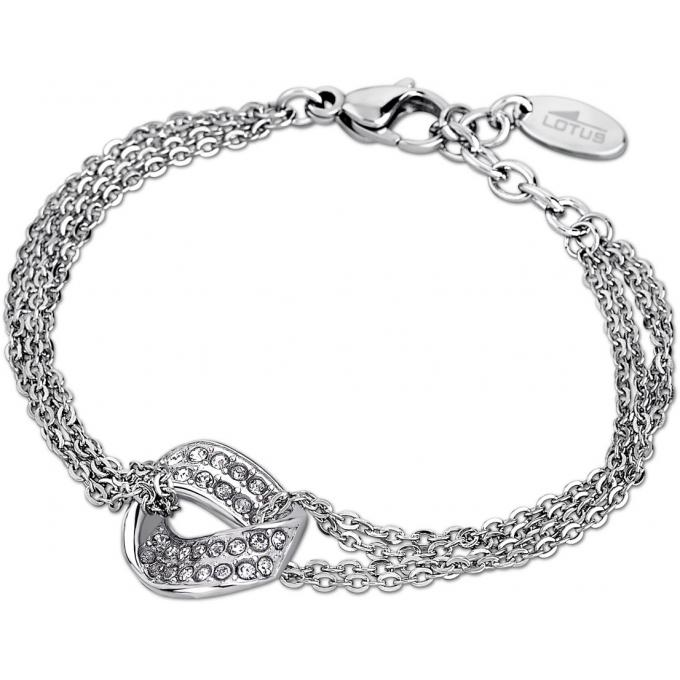Bracelet Lotus Style RAINBOW LS1709,2,1 , Bracelet Strass Argent Femme