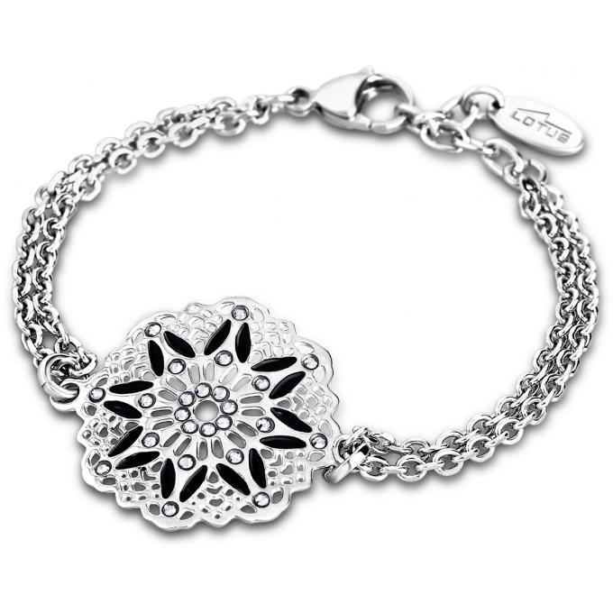 Bracelet Lotus Style PRIVILEGE LS1720,2,2 , Bracelet Rose Acier Femme