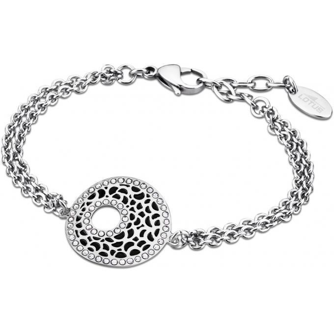 Bracelet Lotus Style PRIVILEGE LS1721,2,2 , Bracelet Noir Cercle Femme