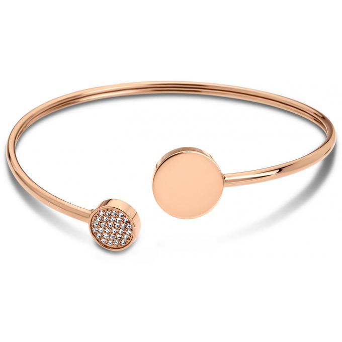 meilleure sélection 7740e 89d12 Bracelet Woman Basic LS1819-2-2 - Bracelet Acier Rigide Or Rose Femme 5/5  (1 avis)
