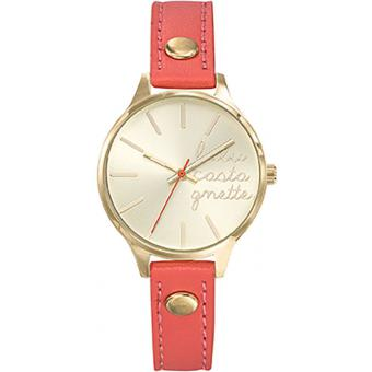 Montre Lulu Castagnette Lulu On The Beach 38811 - Montre Cuir Rouge Femme