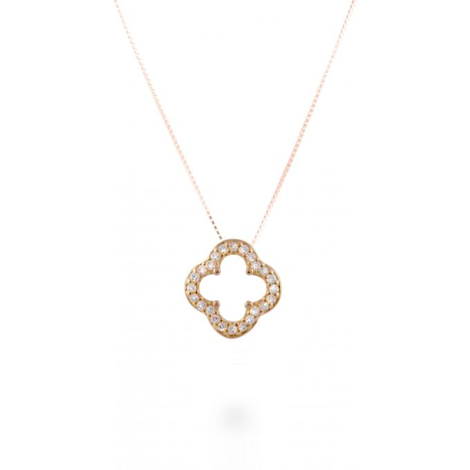 tout neuf 0dada 356d2 Collier et pendentif Luxenter PH047R00 - Collier et pendentif Trefle Ajoure  Rose Femme Plus d'infos