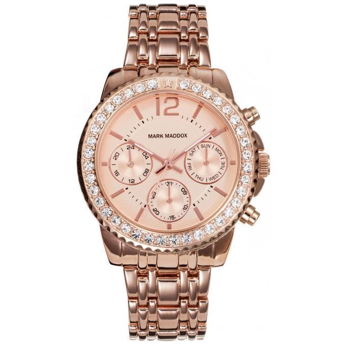 montre mark maddox pink gold mm6004 95 montre acier or rose femme sur bijourama n 1 de la. Black Bedroom Furniture Sets. Home Design Ideas