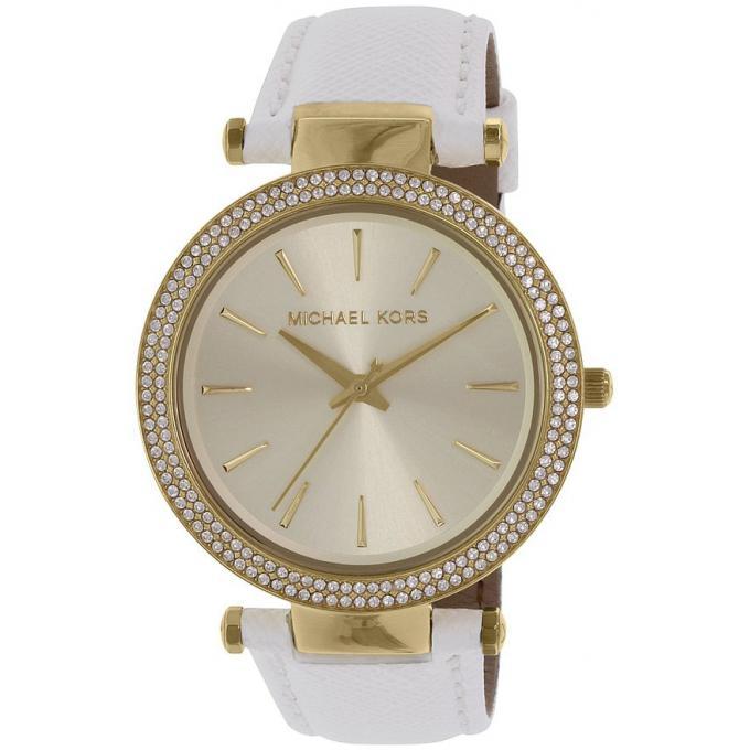 montre michael kors darci mk2391 montre cuir blanche femme sur bijourama n 1 de la montre. Black Bedroom Furniture Sets. Home Design Ideas