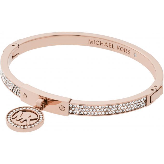 Bracelet Michael Kors Padlock MKJ5978791 , Bracelet Doré Rose Cristaux Femme