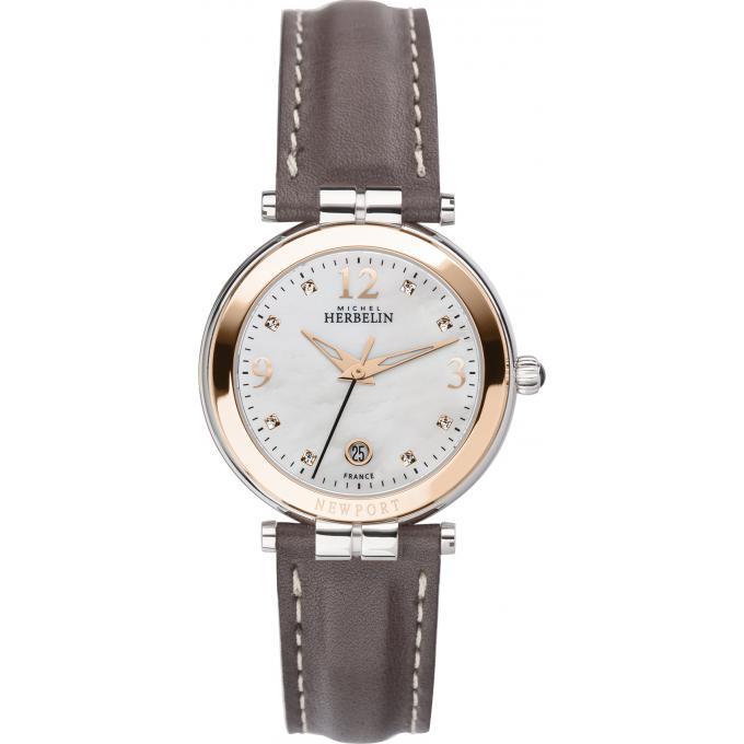 montre michel herbelin 14264 tr59gr montre diamants cuir marron femme sur bijourama montre. Black Bedroom Furniture Sets. Home Design Ideas