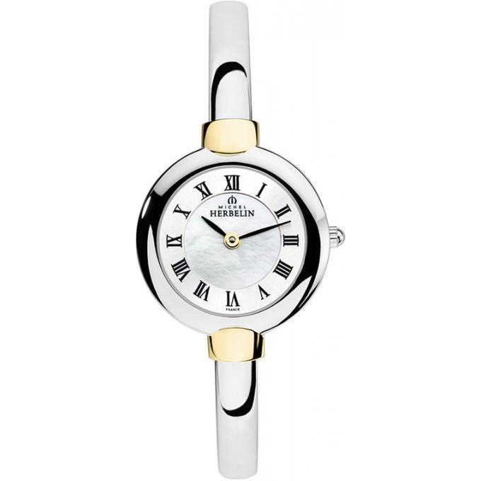 montre michel herbelin salambo 17413 bt29 montre romains jonc femme sur bijourama montre. Black Bedroom Furniture Sets. Home Design Ideas