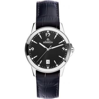 Montre Michel Herbelin City 12250-14 - Montre Argent Croco Homme
