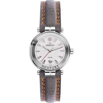 Montre Michel Herbelin Newport Yatch Club 14255-11GR - Montre Grise Surpiquée Femme