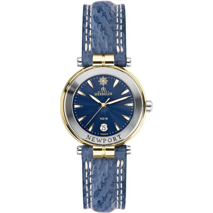 montre michel herbelin newport yatch club 14255 t35 montre bicolore bleue femme sur bijourama. Black Bedroom Furniture Sets. Home Design Ideas