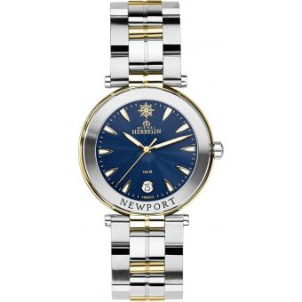 Montre Michel Herbelin Newport Yatch Club 12285-BT35 - Montre Bleue Plaquée Homme