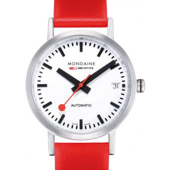 Montre Mondaine Classic A128.30008.16SBC - Montre Automatique Rouge Mixte