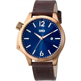 Montre EDWIN BROOK EW1G017L0034 - Montre Ronde Marron Homme