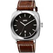 Montre EDWIN JULIUS EW1G018L0014 - Montre Marron Carrée Homme