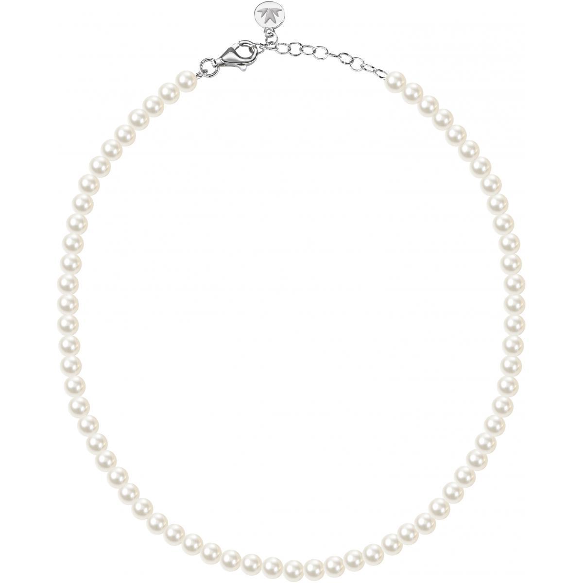 collier argent perle femme