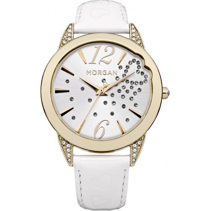 montre morgan m1177w montre femme ronde cuir blanc sur bijourama n 1 de la montre homme. Black Bedroom Furniture Sets. Home Design Ideas
