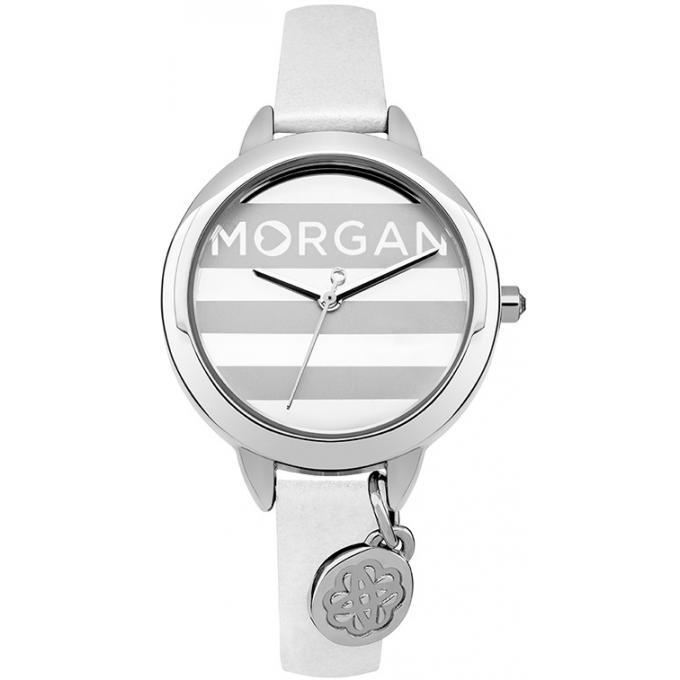 montre morgan m1237w montre blanche cuir femme sur bijourama montre femme pas cher en ligne. Black Bedroom Furniture Sets. Home Design Ideas