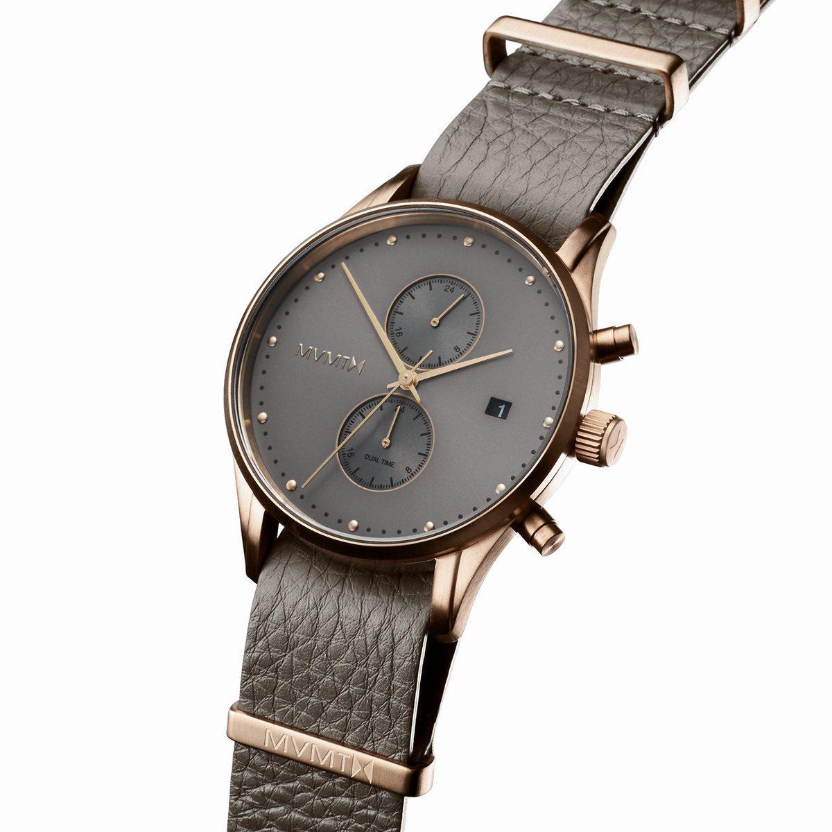 Code Couleur Vert Sauge montre mvmt d-mv01-brogr - chronographe & dateur acier doré