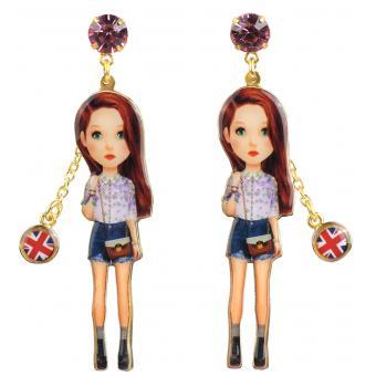Boucles d'oreilles Américaine Strass - N2 - N2