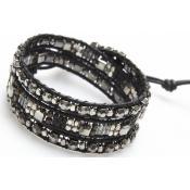 Bracelet Nakamol CBX3526-SVGUNM-BK
