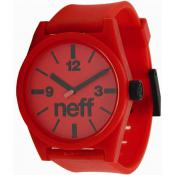 Montre NEFF Daily Watch 00C-QNF0201-K0000-01 - Montre Silicone Rouge Mixte