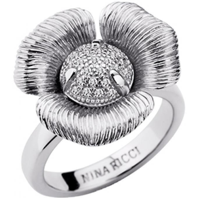 Bague Nina Ricci 70235571108 - Bague Fleur Argentée Femme