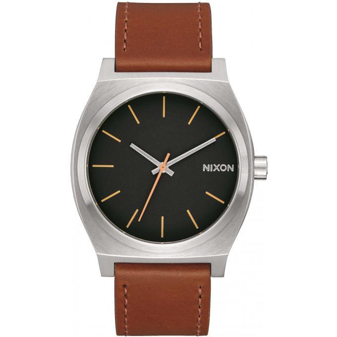 montre nixon a045 2455 montre time teller cuir marron. Black Bedroom Furniture Sets. Home Design Ideas