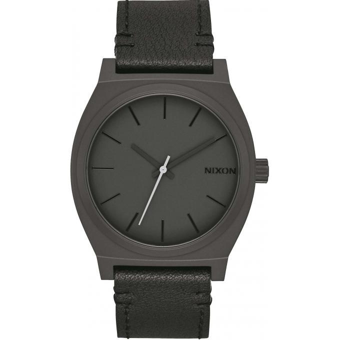 montre nixon a045 2738 montre time teller cuir noir. Black Bedroom Furniture Sets. Home Design Ideas