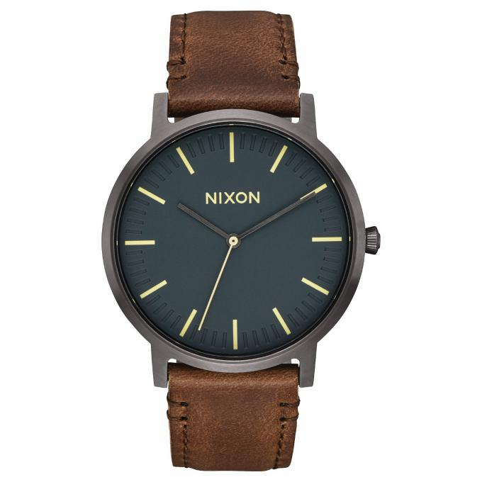 montre nixon a1058 2757 montre porter cuir marron homme sur bijourama montre homme pas cher. Black Bedroom Furniture Sets. Home Design Ideas