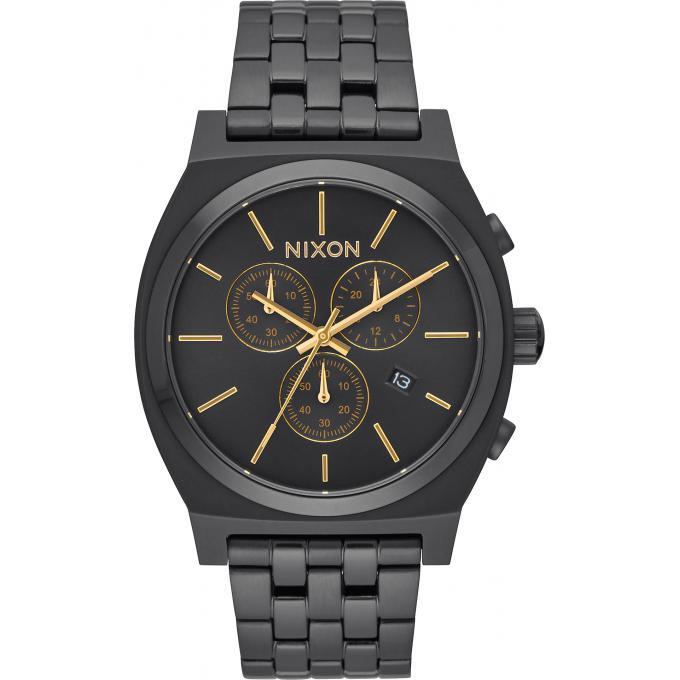 montre nixon time teller chrono a972 1031 montre noir. Black Bedroom Furniture Sets. Home Design Ideas