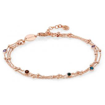 Bracelet Nomination 142625-011 - Bracelet Multicolore Doré Rose Femme