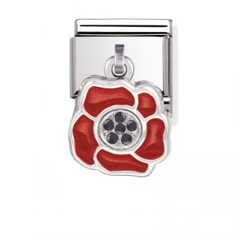 Charm Nomination 031712-04 - Charm Fleur Rouge Mixte