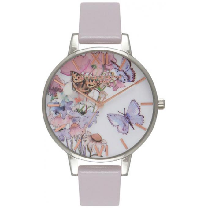 Montre Olivia Burton Painterly Prints OB16PP15 - Montre Violette Papillon Femme